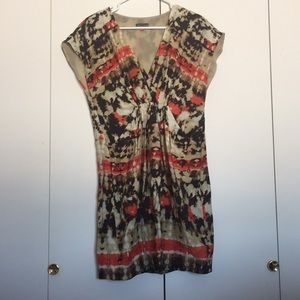 V neck tie dye dress with pockets